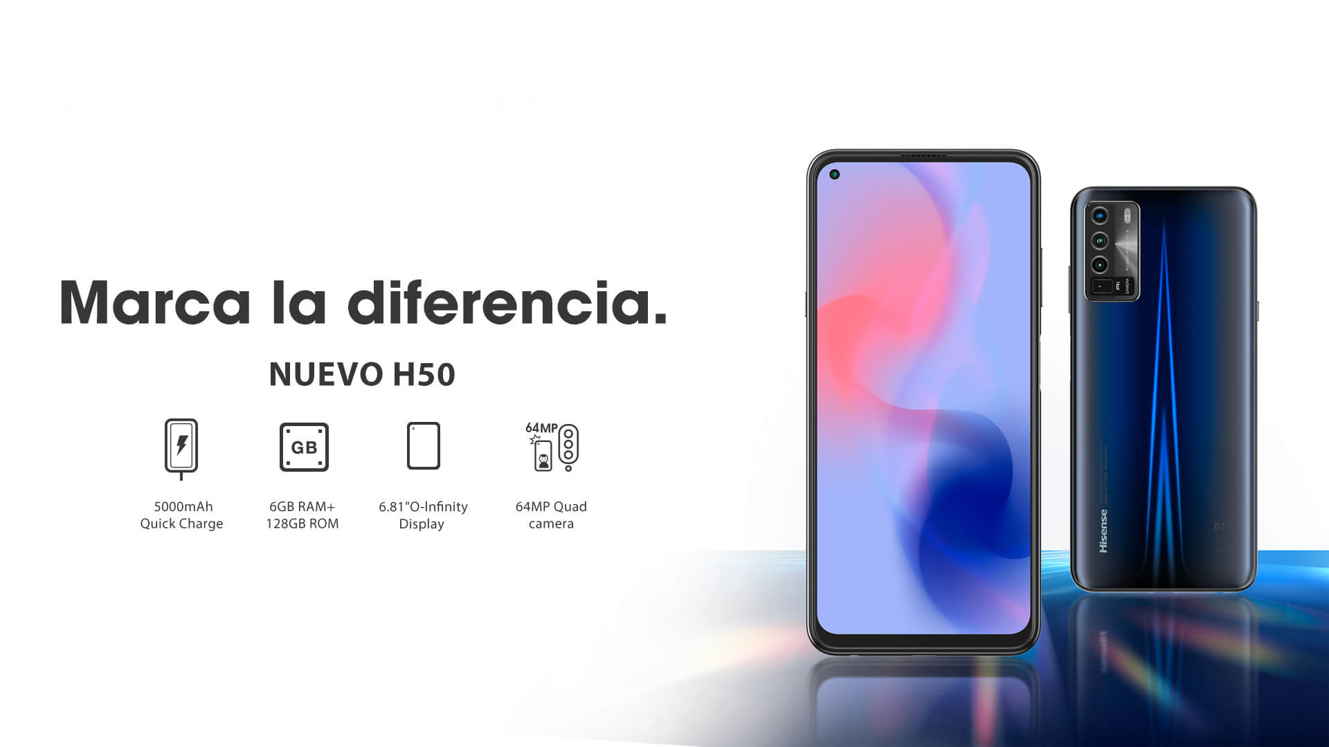 Hisense presenta su nueva línea de teléfonos celulares de la serie H
